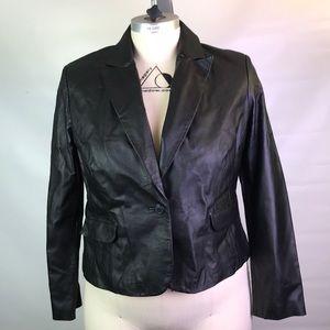 Shape fx leather blazer 18 BNWT